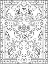 dead coloring sheets dover publications coloring