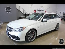 mercedes white 2014 mercedes benz e 63 amg s model wagon white black w 19k miles