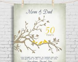 50 wedding anniversary gift ideas custom 50th golden wedding anniversary gift parents 50th