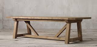 Restoration Hardware Drafting Table 945 6 U0027 Reproduction Salvaged Wood Beam Rectangular Table