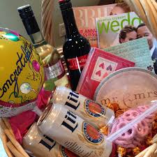 engagement gift basket as we go it mr mrs