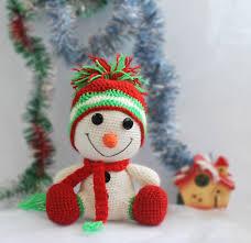 christmas gift christmas toy crochet christmas snowman