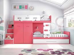 chambre lit superposé lit superposé fille avec lit gigogne personnalisable f253 3