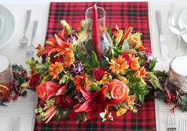 thanksgiving arrangements centerpieces harvest centerpiece with tartan tablescape fresh by ftd