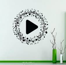 music wall decor music decor amazon com wall stickers vinyl decal hippie with