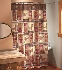Western Bathroom Shower Curtains Cowboy Boot Shower Curtain Hooks Rings 12 Pcs Rustic