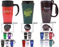 design plastic mug travel mugs and tumblers custom imprinted 16 20 oz plastic