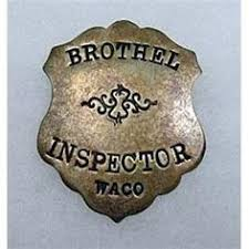 official brothel inspector badge another time pinterest