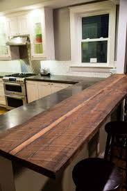 kitchen renovation part 3 the reveal hammer moxie reclaimed wood breakfast bar