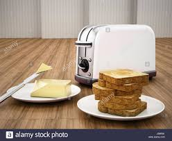 Buttered Bread In Toaster Jam Butter Margarine Stock Photos U0026 Jam Butter Margarine Stock