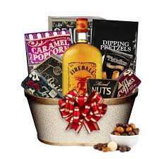 online gift baskets fireball liquor gift basket silent auction