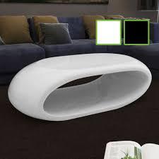 Wohnzimmertisch K N Couchtisch Beistelltisch Tisch Fiberglas Hohldesign Weiß Schwarz