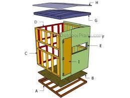 Building A Box Blind Free Deer Stand Building Plans Blinds Ladder Platform Deer Box