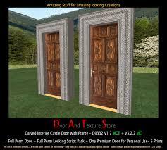 Old Interior Doors For Sale Second Life Marketplace Carved Castle Door Rustic House Door