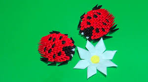 3d origami beginner tutorial 3d origami ladybug tutorial for beginners youtube