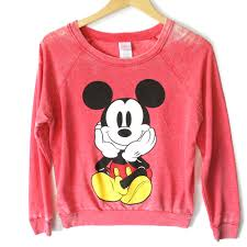 disney mickey mouse front back distressed sweatshirt