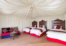triple luxury tent wadi rum night
