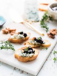 Easy Appetizers by Crostini With Gorgonzola And Prune Chutney Kitchen Confidante