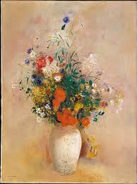 Vase With Red Poppies Odilon Redon Vase Of Flowers Pink Background The Met