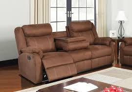 global dual reclining sofa with drop down table and reclining loveseat