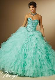 jeweled beading on organza petal skirt quinceanera dress style