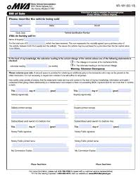 Free Bill Of Sale Car by Free Maryland Dmv Vehicle Bill Of Sale Vr 181 Form Pdf