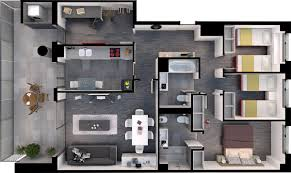 Rendering Floor Plans by Architectural Rendering Architectural Visualization Services