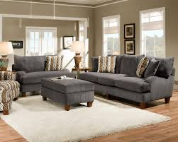 Rustic Living Rooms by Simple Rustic Living Room Design With Gray Fabric Sofa And Chair