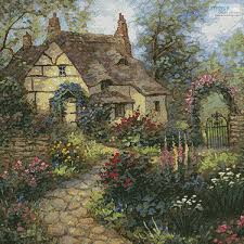 Country Cottage Cross Stitch Artecy Cross Stitch Cottage Garden Crop Cross Stitch Pattern To
