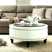 padded coffee table cover ottoman used as coffee table brescullark com