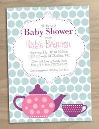 baby shower tea party invitations bridal shower invitations