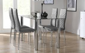 Glass Dining Table  Chairs Glass Dining Sets Furniture Choice - Glass dining room