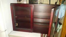 Oak Wall Mounted Display Cabinet Wall Mounted Display Cabinets Ebay