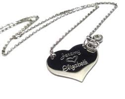 Engraved Necklaces For Her Couple Name Necklace
