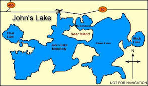 clermont fl map johns lake central florida bass fishing
