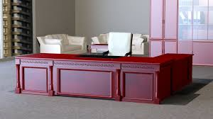 Veneer Desk Classic Executive Veneer Desk With Office Furniture Free 3d Model