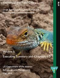 Us Department Of The Interior Bureau Of Land Management Colorado Uncompahgre Fo Uncompahgre Field Office Resource