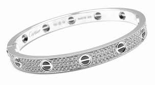 silver love bangle bracelet images Cartier love all diamond and ceramic white gold bangle bracelet jpg
