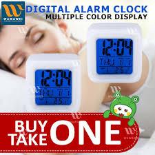 wawawei 7 color led changing digital alarm clock buy 1 take 1