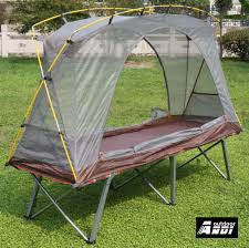 tent deck compact protable tent cot 1 person camping cot single sandy beach