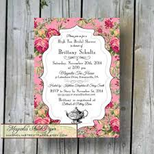 high tea bridal shower invitation custom printable high tea