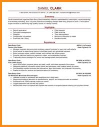 Jd Resume Data Entry Sample Resume Cover Letter Pertaining To Sample File