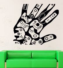 aliexpress com buy game play room vinyl wall decal creative hand
