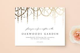 Reception Cards Pearl Garland Foil Pressed Reception Cards By Julia Hall Minted