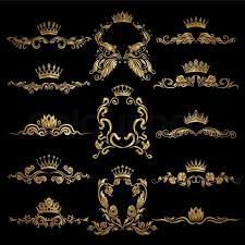 gold monogram wedding invitation logo vector beautiful set of gold monogram for