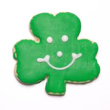 shamrock cookies st patricks day smiley cookies