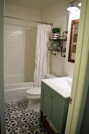 best 25 small full bathroom ideas on pinterest bathroom doors small bathroom remodel with subway tile walls and cement tile look floor tile