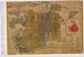 Map De Mexico by Mexico En 1810 1876 Y 1909 Plano De La Ciudad Su Congreso