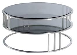 furniture contemporary modern round coffee table with round glass