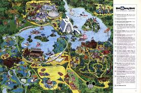 Disney World Magic Kingdom Map Deep Water Studios U2014 1975 Walt Disney World Map Classic Wdw Resort